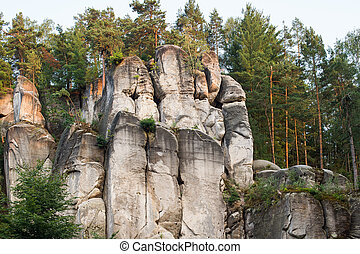Cesky raj sandstone cliffs - Prachov Rocks, Czech Republic
