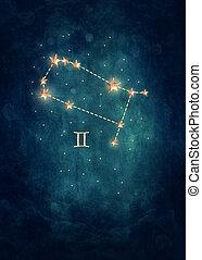 Gemini astrological sign in the Zodiac