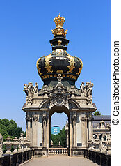 Crown at gate Kronentor at palace Zwinger, Dresden