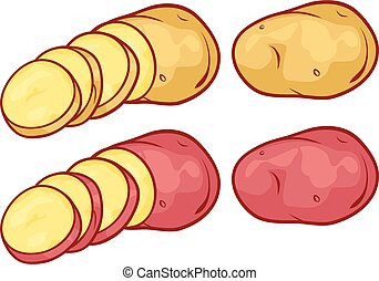 sliced potatoes (cut potatoes)