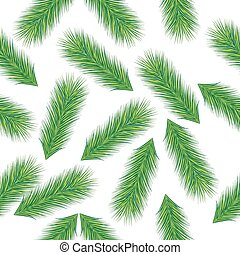 Seamless Christmas background with green branches spruce