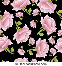 Seamless background with roses