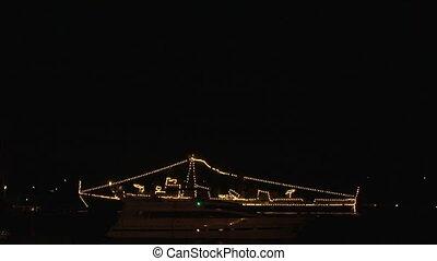 Lights on the ship