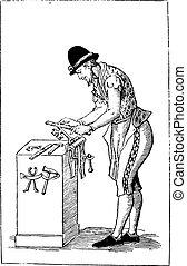 Locksmith, vintage engraving.