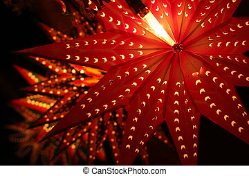 Beautiful traditional lanterns lit on the occassion of...
