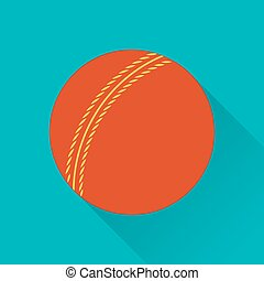 Cricket game flat icon - Cricket ball flat icon Colored flat...