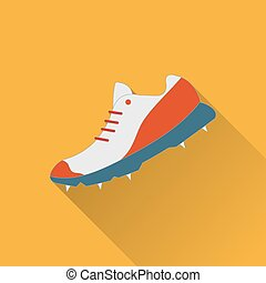 Cricket game flat icon - Cricket game equipment, flat icons...