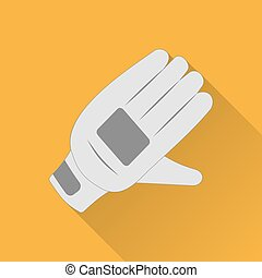 Cricket game flat icon - Cricket glove flat icon. Colored...
