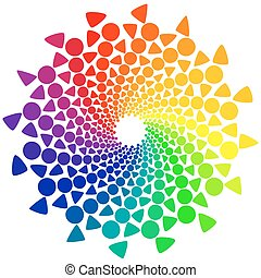 Color Wheel with circles and triangles - Color wheel or...