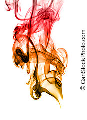 Abstract smoke curves on white