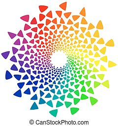 color wheel with triangles - Color wheel or color circle...
