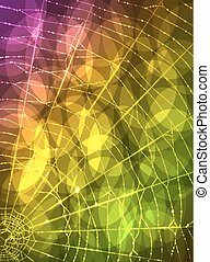 Spider's web - A vector background with a spider's web in...
