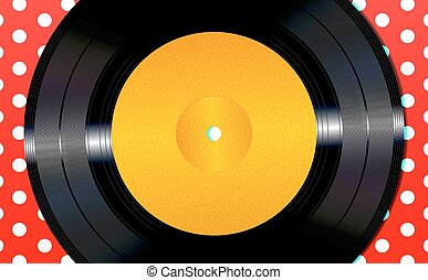 Background with a vinyl disc - An illustration of a vinyl...