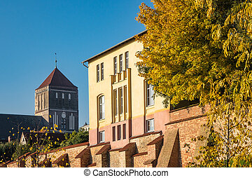 Church in Rostock - View to a church in Rostock (Germany).