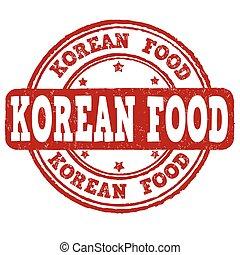 Korean food stamp - Korean food grunge rubber stamp on white...