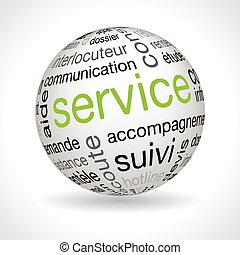 French Service sphere with keywords