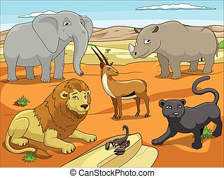 Educational game for children African savannah