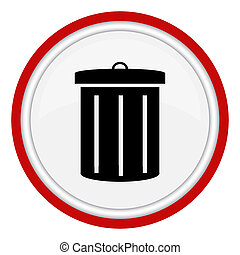 Garbage can icon - icon with the image of the garbage can