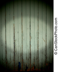 Old wooden wall background Horror concept peeling of paint...