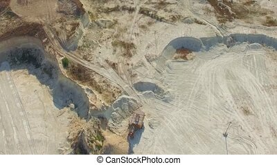 AERIAL VIEW Big Limestone Career In Bakhchisarai, Crimea -...