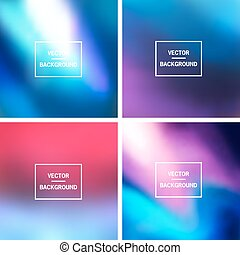 Blurred Backgrounds Collection - Abstract colorful blurred...
