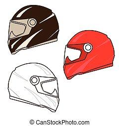 Motorbike helmet illustration
