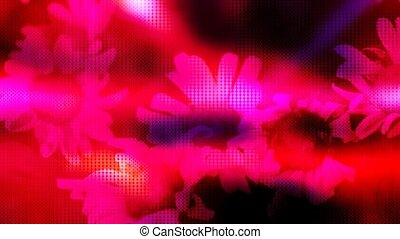Abstract Flowers Textured Loop