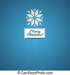 Merry Christmas Scandinavian style  knitted background