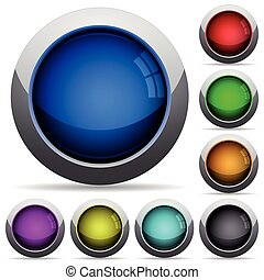 Empty button set - Set of round glossy empty buttons...