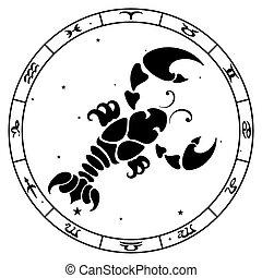 Cancer zodiac sign, vector illustration