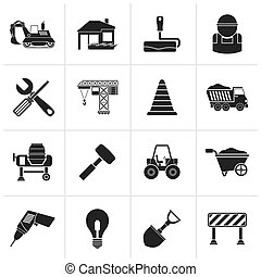 Building and construction icons - Black Building and...