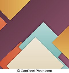 Material design background - Stack of random rectangles...