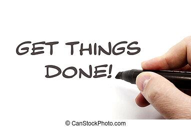 Get Things Done handwriting