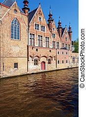 Dijver canal at Bruges, Belgium