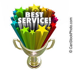 Best Service Trophy Award Prize Top Rated Company Business -...