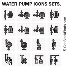 Pump - Water pump icons sets