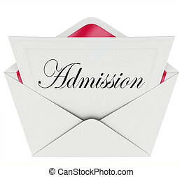 Admission Word Invitation Card Envelope Attend Event -...