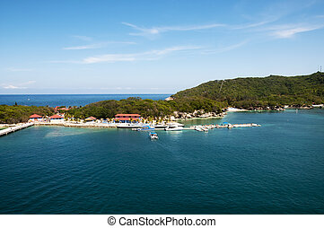 Labadee Haiti Bay - Labadee Haiti tourist destination with...