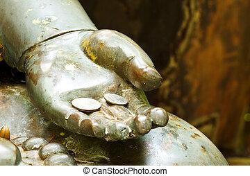Buddha, mão