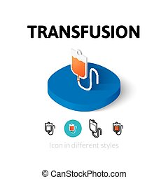 Transfusion icon in different style - Transfusion icon,...