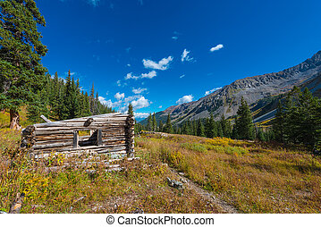 Cabin Ruins near Conundrum Hot Spring Trail Colorado - The...