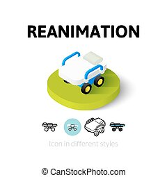 Reanimation icon in different style - Reanimation icon,...