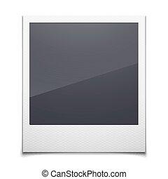 Retro photo frame isolated on white background, vector...