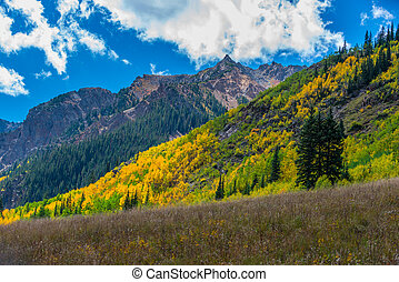 Colorado Fall Foliage Conundrum Hot Springs Trail - Colorado...
