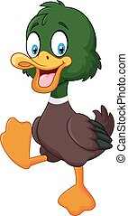 Cartoon baby duck isolated - Vector illustration of Cartoon...