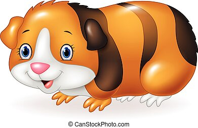 Cartoon Guinea pig isolated - Vector illustration of Cartoon...