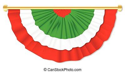 Italian Flag Bunting