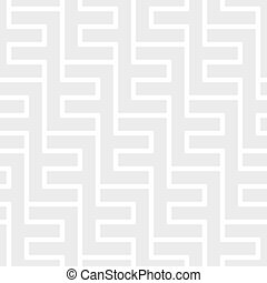 Seamless vintage geometric pattern. Ethnic vector background. Gray and white texture
