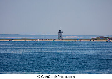 Lighthouse in New England - Lightouse in Cape Cod peninsula,...