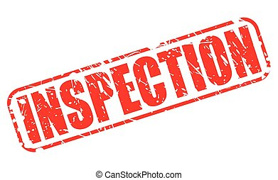 INSPECTION red stamp text on white